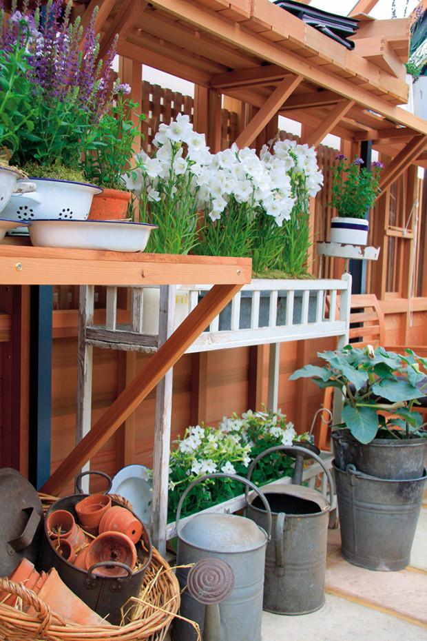 Nostalgická atmosféra minulosti může dýchat i z interiéru venkovského skleníku.