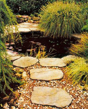Nášlapné kameny do trávníku