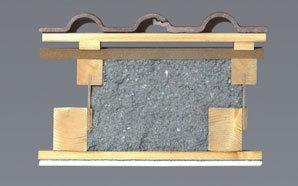 UDI TOP – montáž na krokevních expandérech. Difuzně otevřená konstrukce se zafoukanou celulózovou izolací CLIMATIZER PLUS a parobrzdou Proclima® DB+.