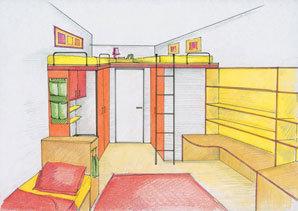 Pokojík pro tři dětičky