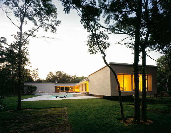 Exkluzivní dům uprostřed lesů Long Islandu