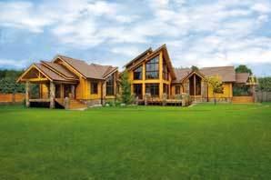 Moderní finský srubový dům ze dřeva