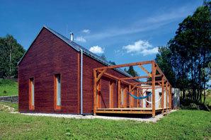 Dům s krásným výhledem na krajinu středních Čech