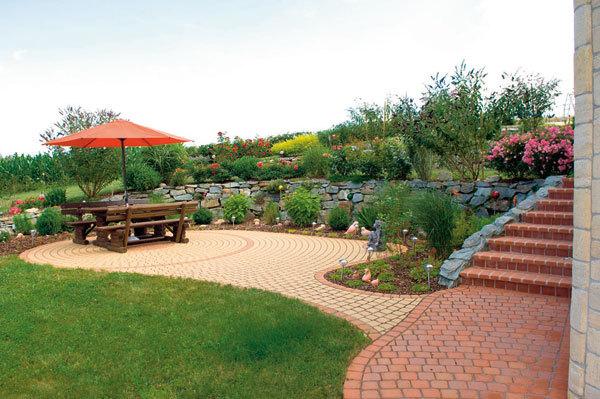 Elegantní zahradní chodníky