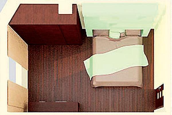 Romantická minimalistická ložnice