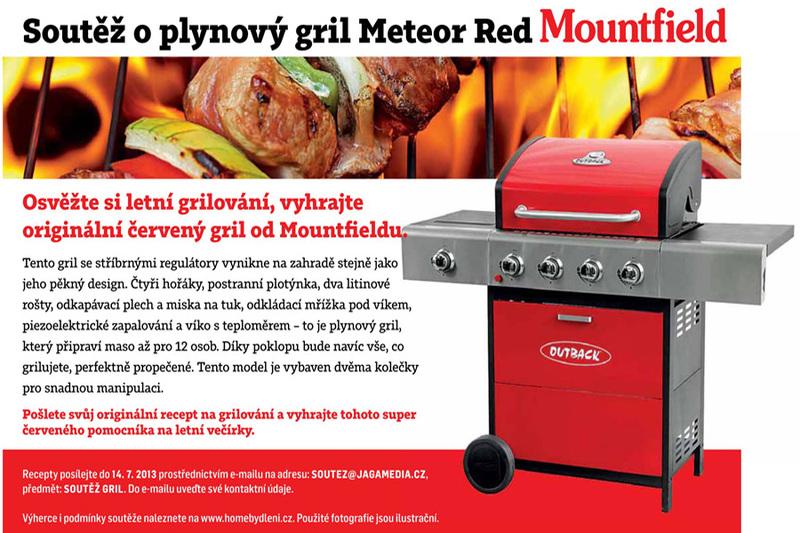 SOUTĚŽ o plynový gril Meteor Red od Mountfield