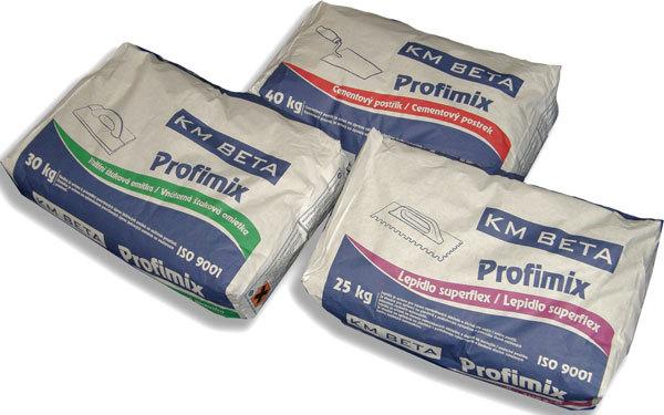 KM Beta doplňuje nabídku stavebních materiálů o malty a omítky PROFIMIX
