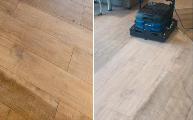 Hloubkové čištění znečištěných podlah
