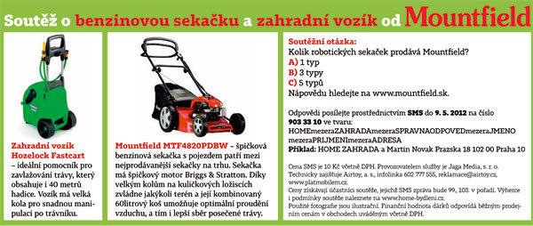 Soutěž o benzinovou sekačku a zahradní vozík od společnosti Mountfield