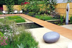 Mětská zahrada vhodná k modernímu domu