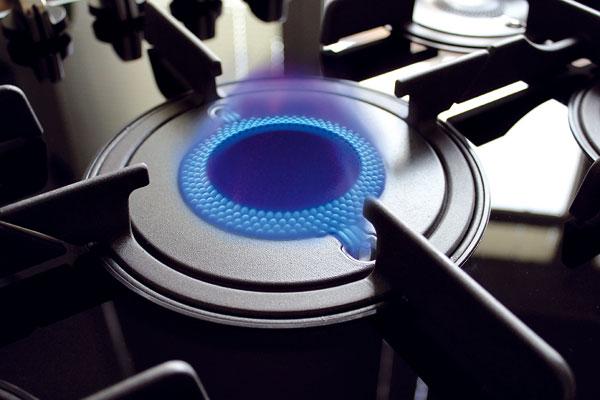 Plyn vyrazil do protiútoku a na technologický vývoj elektrických desek reaguje vylepšenou konstrukcí hořáků, například technologií přímého plamene. Hořák, který se skládá z jednoho kusu a velkého množství malých otvorů, umožňuje vertikální šíření plamene a ve srovnání se standardními hořáky sradiálním rozvodem distribuuje teplo rovnoměrně, zkracuje dobu vaření asnižuje spotřebu energie. Pokrmy jsou ohřívány rovnoměrně anepřipalují se na okrajích. Foto: Hotpoint