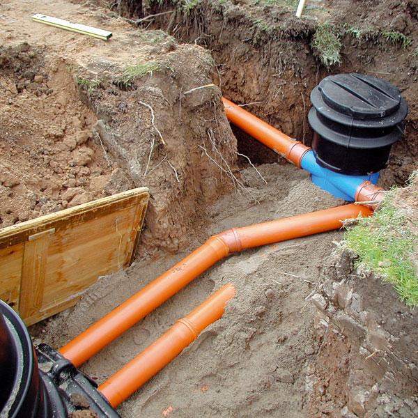 Externí filtry jsou samostatné filtrační šachty,které se napojují mezi okapový svod ajímku azpravidla umožňují spojení dvou větví okapových svodů.Po přefiltrování vody umožní odtok čisté vody do jímky avpřípadě samočisticích filtrů odtok přebytečné vody anečistot do kanalizace. (foto: Rehau)