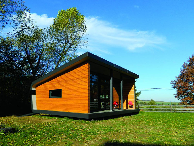 Studenti ČVUT nedávno uspěli se svým soběstačným domem Air House, na svědomí mají však i další zajímavé projekty. Třeba OpenBook, prefabrikovanou modulovou dřevostavbu, která vychází z principu Sokratova pootevřeného domu. (foto: Julie Dürrová)
