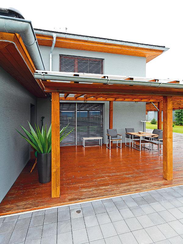 Veranda je oproti původnímu FOTO DANO VESELSKÝprojektu zvětšená.