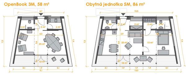 Díky možnosti lineárního nebo segmentového propojení modulů je možné vytvořit libovolně velký prostor na míru vašich potřeb.