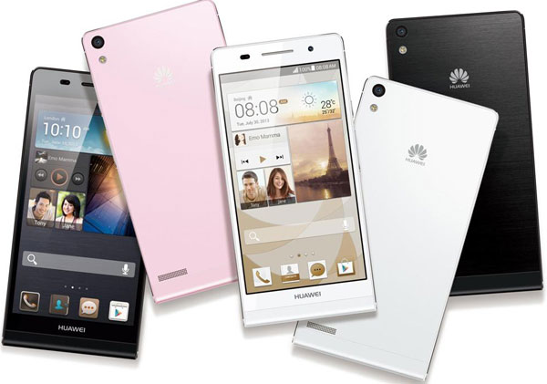 Huawei, černá varianta – 9 190 Kč, bílá a růžová verze − 9 390 Kč
