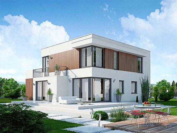 Varianta domu s plochou střechou – Dominik 6 Zdroj: Ekonomické stavby