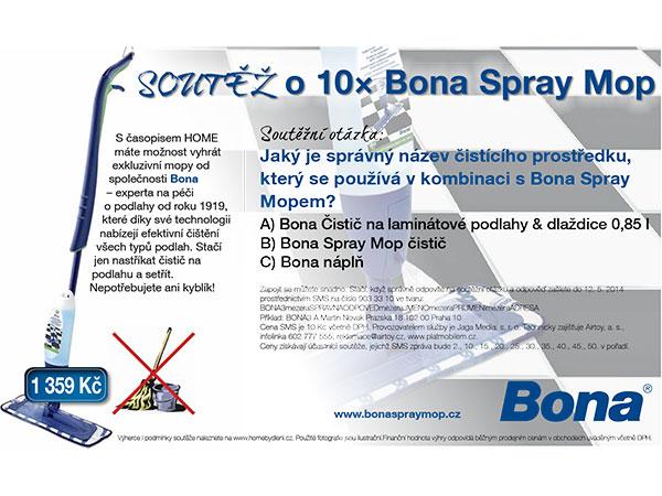 SOUTĚŽ o 10× Bona Spray Mop