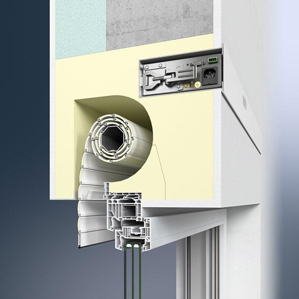 Ventilační jednotka Thermo NB s Schüco VentoTherm – řízená ventilace v kombinaci se zastíněním foto: Schüco CZ s.r.o.