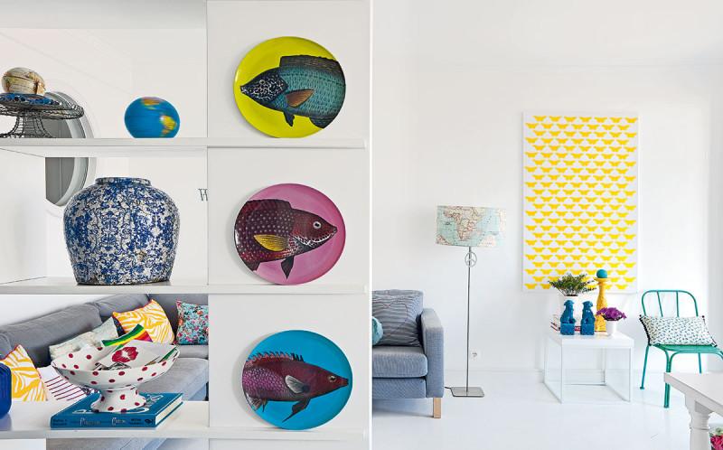 Působivé doplňky. Pomocí výrazných dekorací dala Raquel, majitelka bytu, všem prostorům vlastní pečeť osobitosti, romantiky apohodlí. Foto AM / Photoforpress