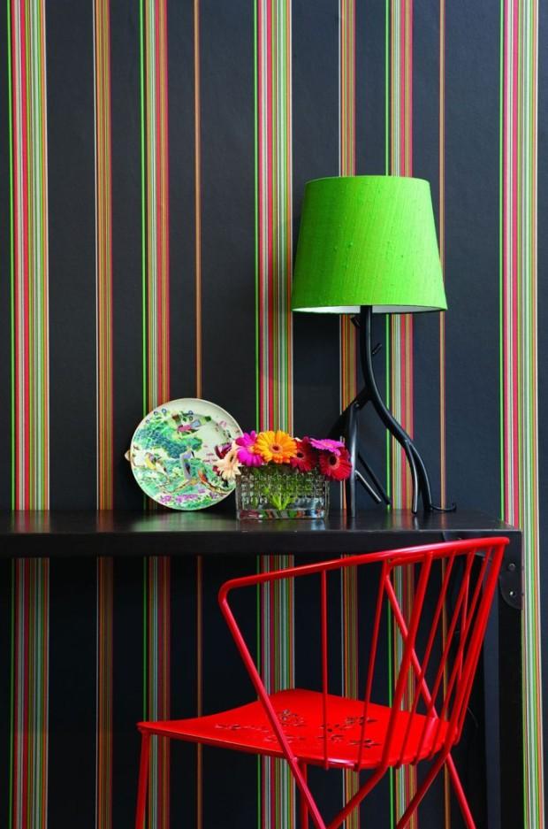 Tapety a textilie roku 2014 oplývají živými a jasnými barvami. V nabídce jsou jak opulentní, tak minimalistické varianty. (foto Naty Naty/Mimou)