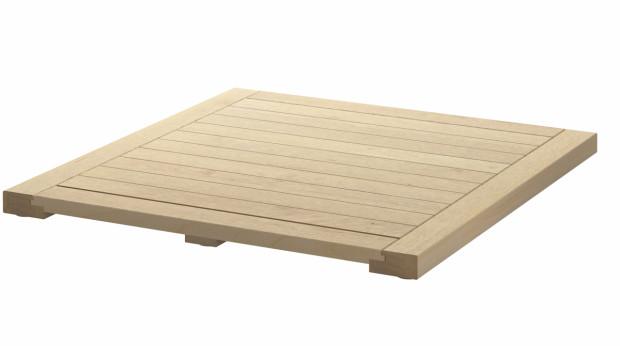 Nemusíte zbytečně instalovat saunu, abyste vytvořili design jako v lázních. Proč nevyužít zajímavou podlahovou krytinu? Podlahová krytina Molger, bříza a tmavohnědá barva, 37 cm × 37 cm, 199 Kč/ks, IKEA