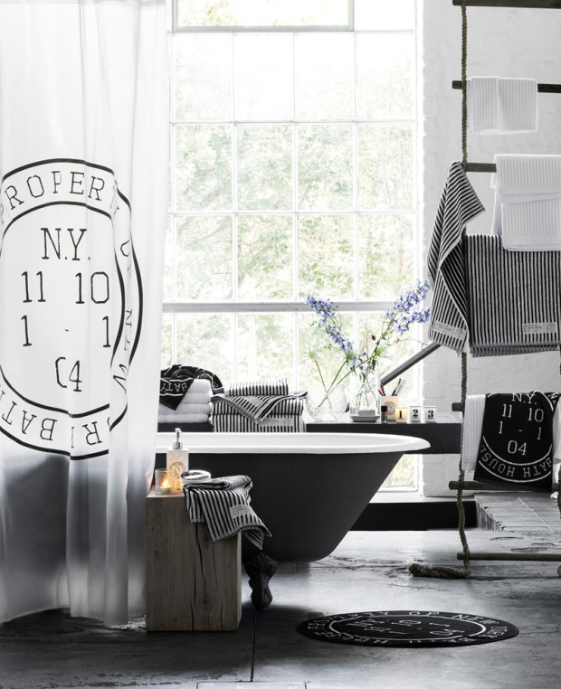 Černobílá kolekce od H&M Home je k dostání již od 160 Kč. (foto: H&M Home)