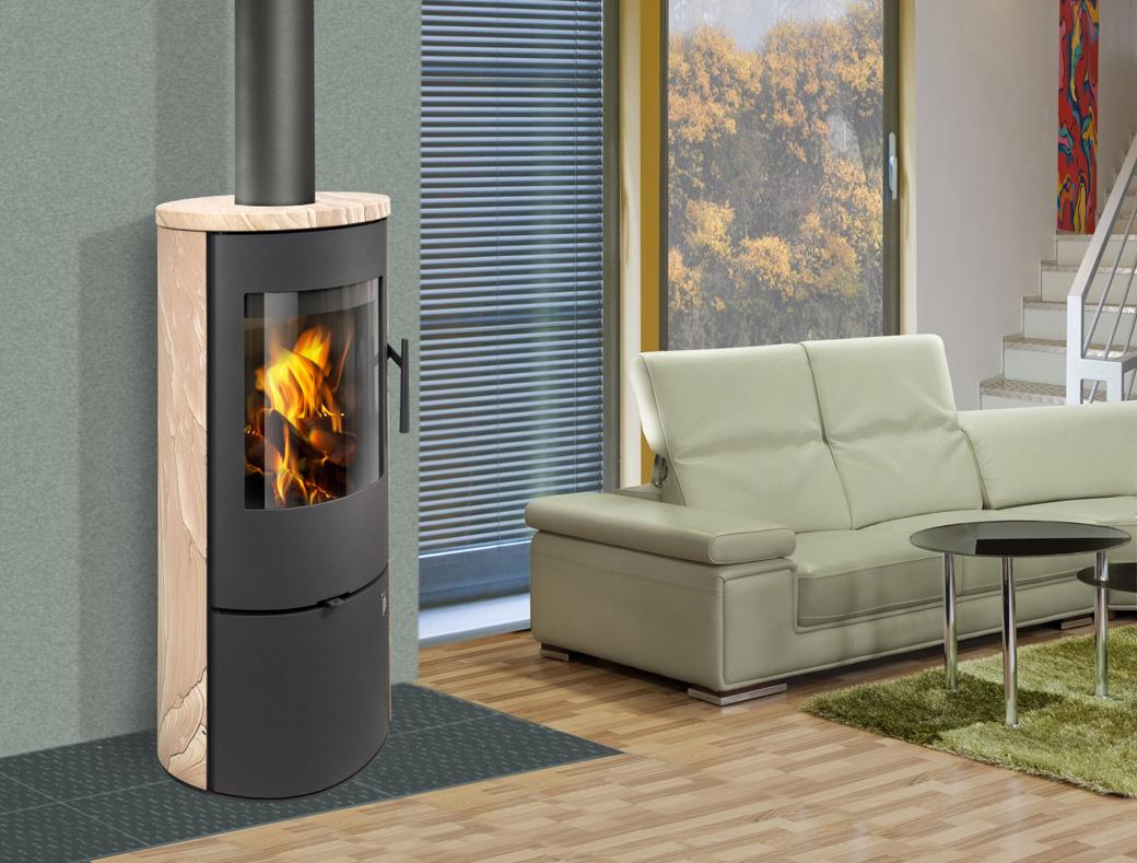 Krbová kamna Evora: moderní vytápění pro nízkoenergetické domy