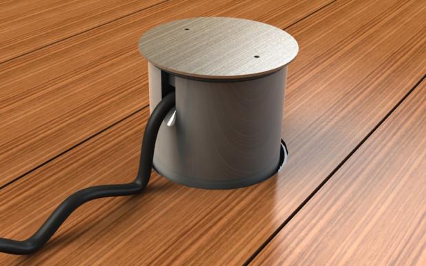 Při používání je možné venkovní podlahovou zásuvku dočasně opatřit nástavcem proti vniknutí vodě.