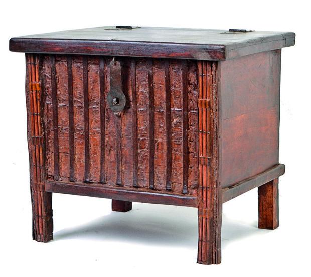 """Antik truhla,""""pitara"""" provedení, kování, mangové dřevo"""