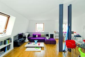 Nezvyklé řešení mezonetového bytu jako ukázka chytrého designérského přístupu