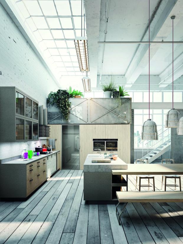 Industriální styl je hitem. Cihlové zdi, průmyslové lampy, kovové prvky, velkorysé pojetí prostoru. To vše podtrhne dojem, že právě svačíte ve velké tovární hale.