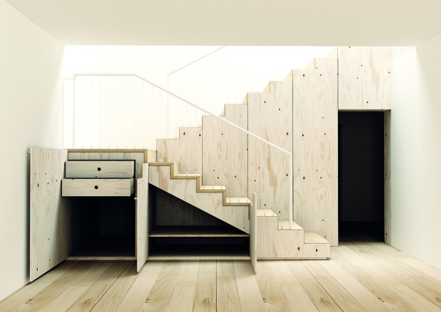 Pokud plánujete v bytě či domě schody nebo se pouštíte do jejich rekonstrukce, zvažte úložné možnosti, které skýtá jejich rafinované řešení. (foto: www.krasneschody.cz)