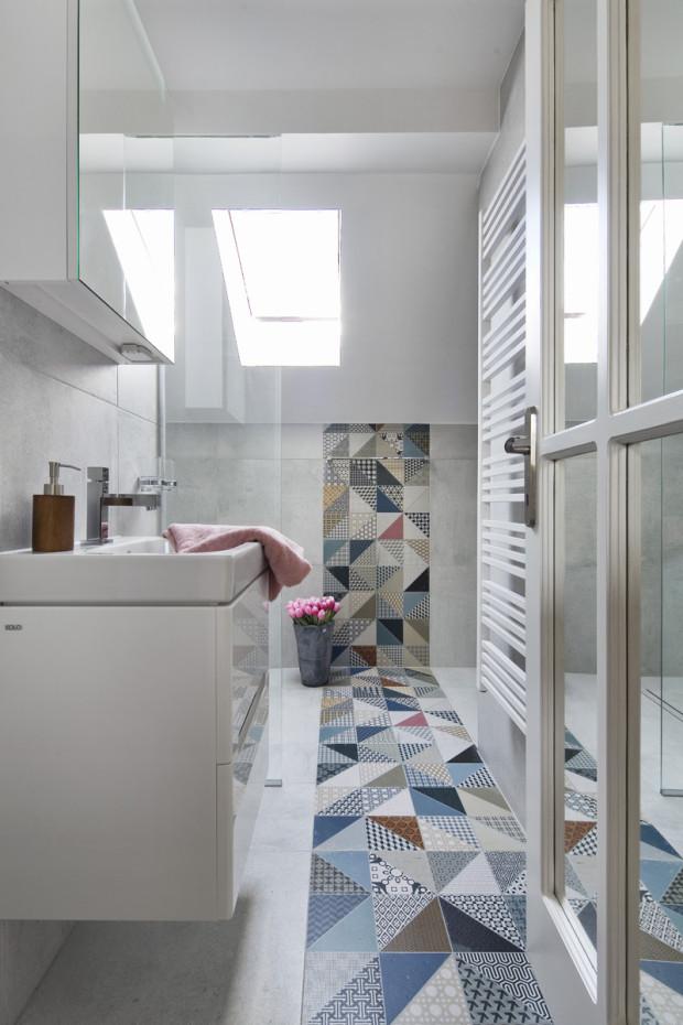 Podkrovní koupelna po rekonstrukci