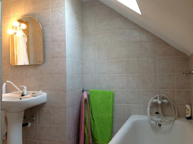 Podkrovní koupelna před rekonstrukcí