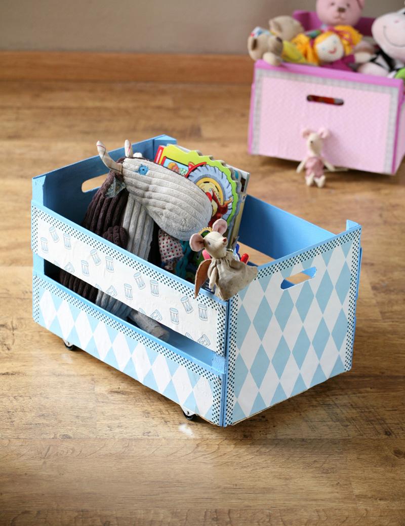 Šikovná bednička (nejen) na uskladnění hraček