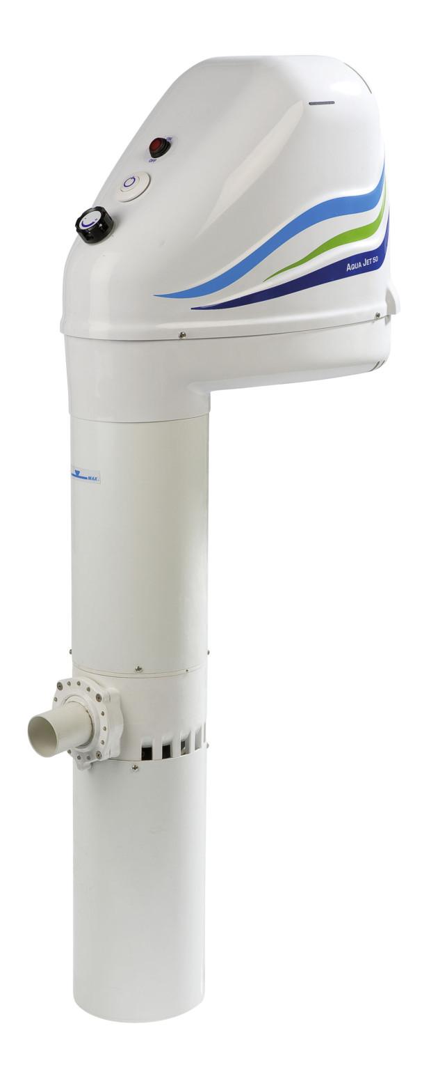 Závěsný protiproud Aqua Jet 50 s výkonem 50 m³/h od společnosti Mountfield je určen především k bazénům řady Azuro. Je vybaven LED diodami, které jsou integrovány do víka trysky, a tak osvítí bazén při nočním plavání. Vypínač světla a protiproudu je přístupný z bazénu. Díky vyššímu výkonu najde uplatnění především u zdatnějších plavců, 13 650 Kč. (foto: Mountfield)
