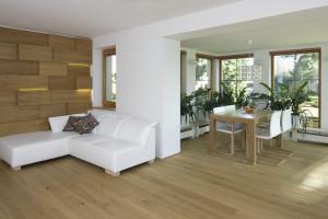 Moderní interiér s prostorovými efekty