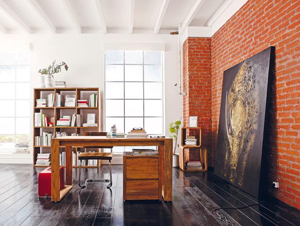 Cihlová stěna vyžene nudu z interiéru