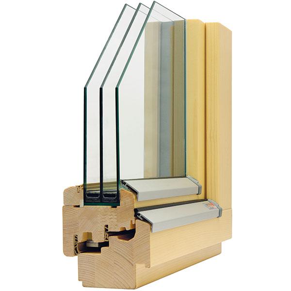 Slavona SC92 dřevěný profil 92 mm, Uf = 0,7 W/(m2 . K)