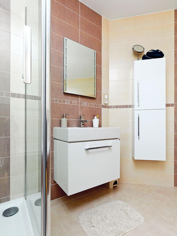 Vkoupelně sice najdeme ivanu, častěji se ale využívá sprchový kout.