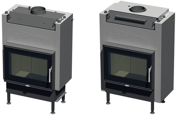 Krbová vložka KV 025 W02 BD steplovodním výměníkem triple pass, centrálním přívodem vzduchu azadním přikládáním. Systém triple pass využívá mnohem efektivněji vnitřní teplosměnné plochy trubek výměníku. Může spalinám odebrat mnohem více tepla než výměník standardního řešení. Celkovou účinnost topidla tak lze zvýšit až o10 %. Exponované části krbových vložek Romotop KV 025W 01(02) BD jsou vyrobeny ze speciálního ocelového plechu COR-TEN, opatřeného na povrchu speciální oxidickou vrstvou, bránící pronikání koroze do vnitřních vrstev materiálu. Životnost těchto konstrukčních plechů vprovozu je pětkrát vyšší než uplechů zběžně používaných materiálů. FOTO ROMOTOP