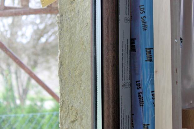Správné napojení parozábrany na okno