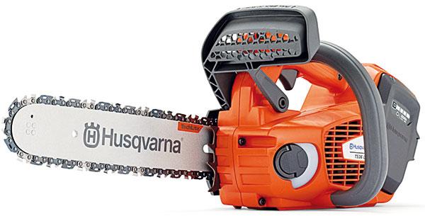 Husqvarna T536Li XP, akumulátorová pila, baterie Li-Ion 36V, moderní bezkomutátorový motor − spolehlivý provoz, dlouhá životnost, ekonomický režim (snížení otáček), nízká hmotnost − bez baterie ališty pouze 2,4 kg, odlehčená lišta, 12 490 Kč foto: Husqvarna