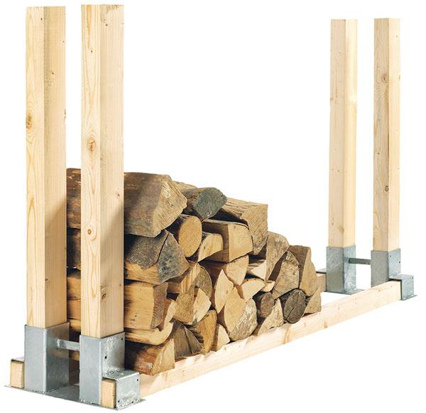 Stojan nadřevo, materiál dřevo, venkovní užití kprosychání dřeva, prodává OBI, 199 Kč zdroj: OBI