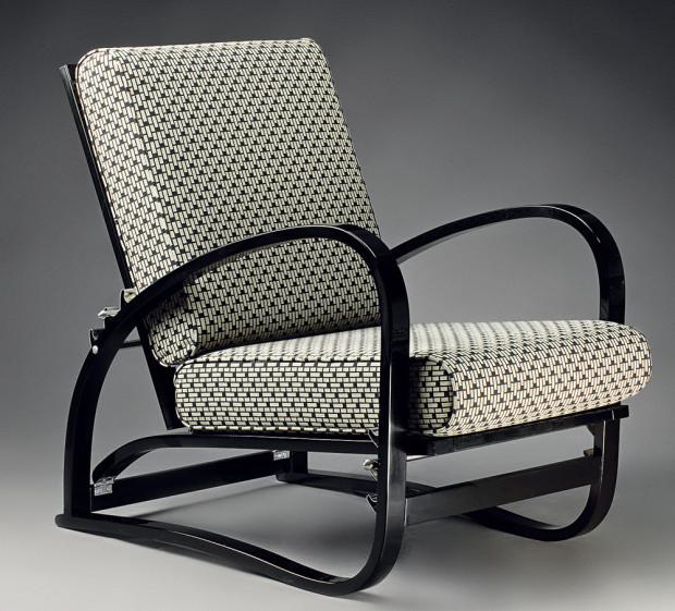 Polohovací křeslo, Modernista, design Jindřich Halabala (1931), od 21950 Kč