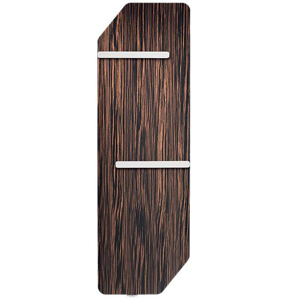 Ultratenký alehký radiátor Runtal Folio Corner, kombinace hliníku aexpandovaného grafitu, 3 varianty dřevěné dýhy, prodává Proceram, od 32799 Kč