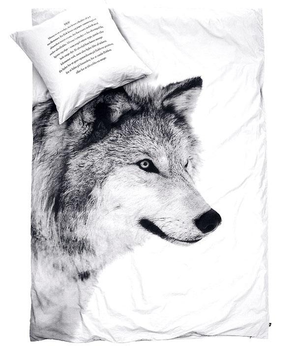 Povlečení Wolf, By Nord, 100% bavlna, polštářek 50 x 70 cm, peřina 140 x 200cm, 3014 Kč