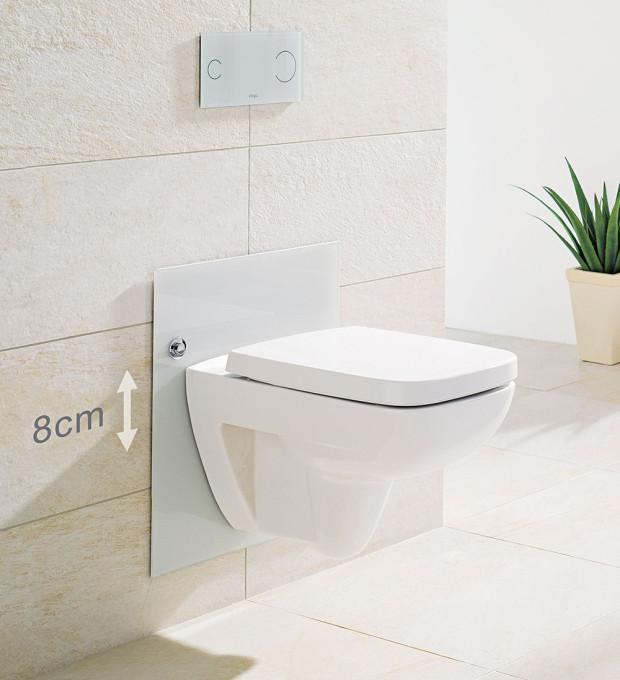 Předstěnový systém Viega Eco Plus WC, pro závěsné WC, duální splachovací systém, nastavitelná výška keramiky (rozsah 80 mm), 27267 Kč bez DPH