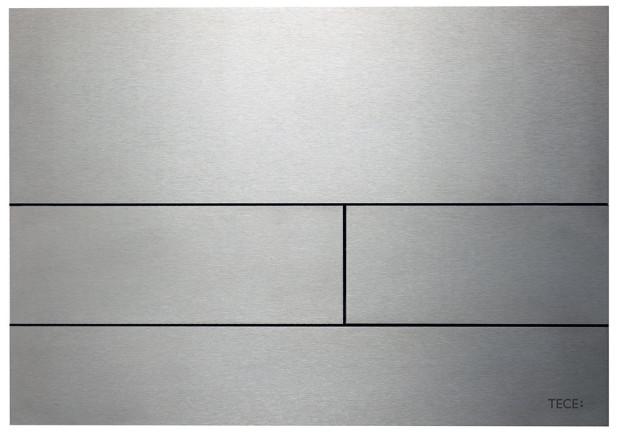 Ovládací tlačítko pro WC TECEsquare, broušená nerezová ocel sochrannou vrstvou proti poškrábání aotiskům, (š)240 x (v)170 x (h)2 mm, 4 482 Kč bez DPH